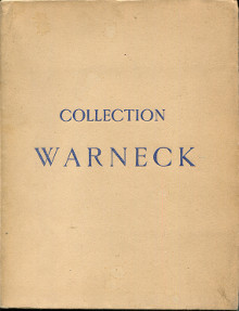Collection Warneck Tableaux anciens et modernes 1926 Frits Lugt
