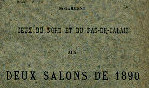 Dubron - Artistes Nord PdC 1890